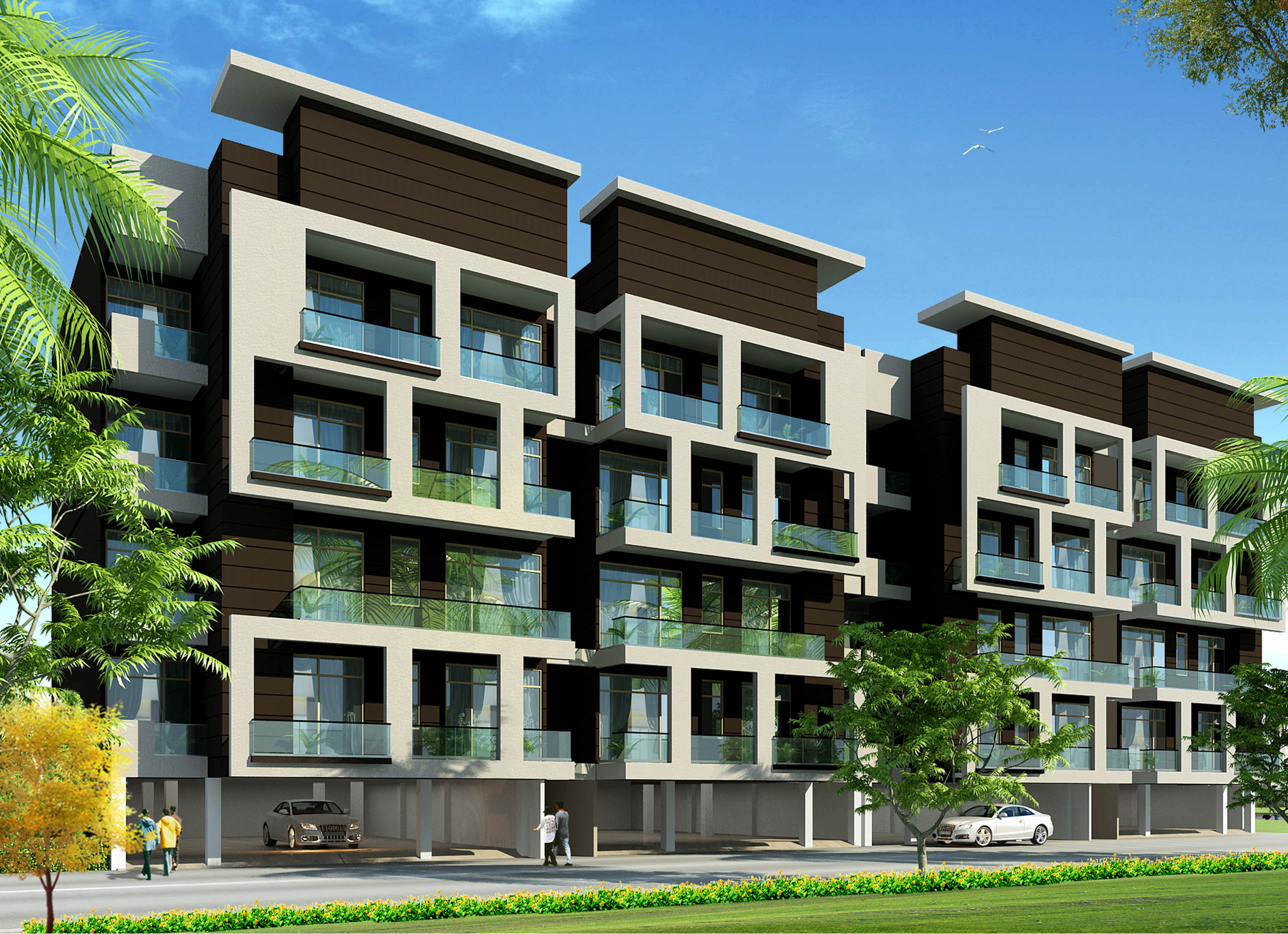 Utkarasht lotus green hathras space design group for Residential pictures
